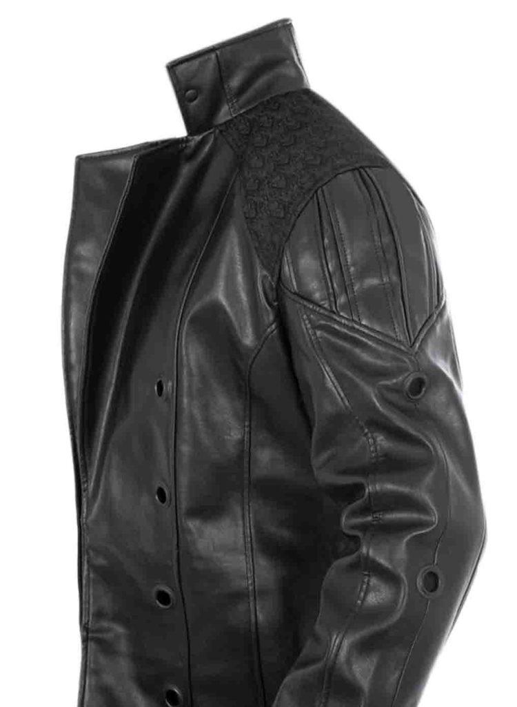 black leather jacket moto