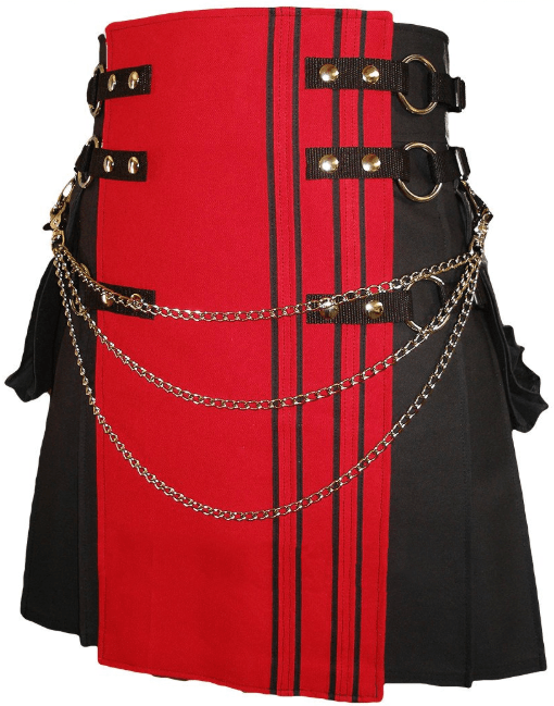 black red kilt