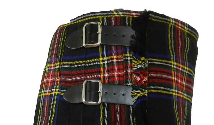 Scottish Men Black Stewart Tartan Kilt For Sale