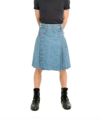 denim blue jeans kilt