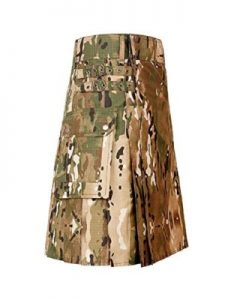 khaki colour dress kilt