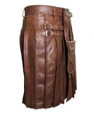 Leather Kilt With Sporran