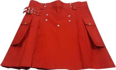 red mini skirt kilt
