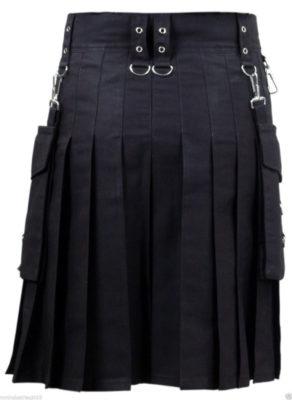 utility kilt black
