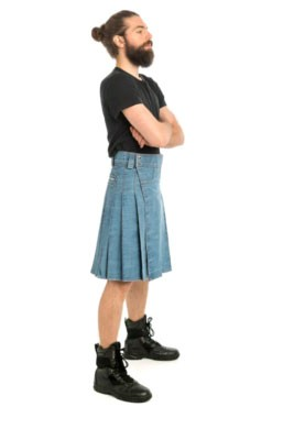 new denim blue jeans