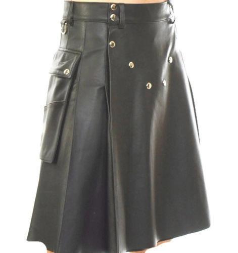 Leather Spartan Kilt