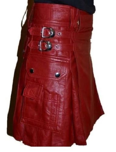 Leather Scottish Kilt