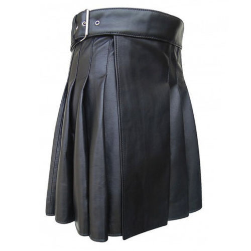 Mens Leather Gladiator Kilt