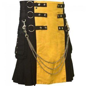 black & yellow kilt