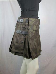 camouflage long tactical kilt