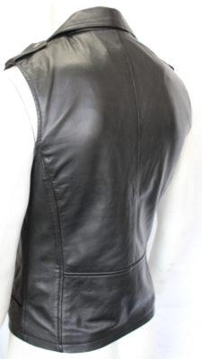 Black Sleeveless Jacket for sale