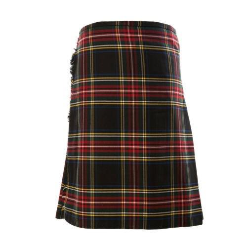 Black Stewart Tartan Fabric Kilt