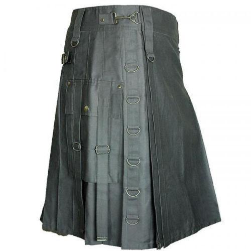 Grey Black Kilt