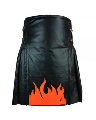 Leather Kilt Men