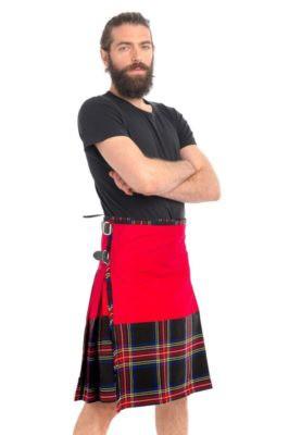 Black Stewart Tartan Kilt For Sale