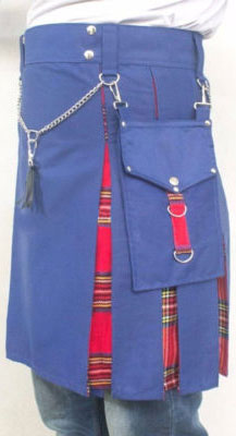 Blue And Red Stewart Tartan Kilt