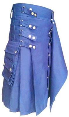 blue Scottish kilt