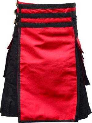 Black red Plaid Kilt