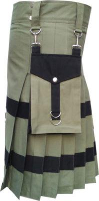 Green Utility Skirt Kilt