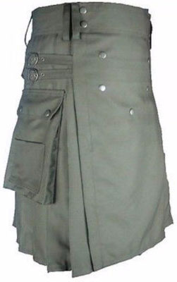 Grey Kilt Outfit