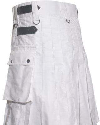 White utility Kilt For Sale