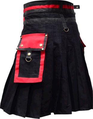 Black Plaid Kilt