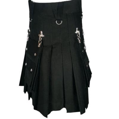 Gothic black kilt