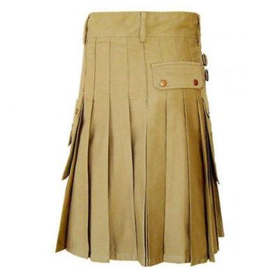 Scottish khaki kilt