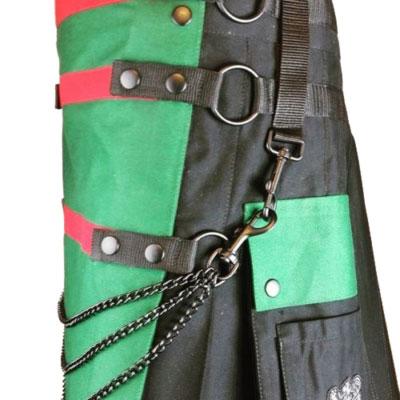 green and black kilt