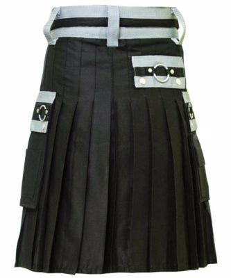 Modern Black Formal Kilt
