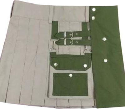 green and white kilt