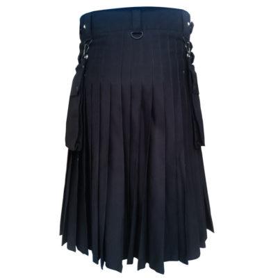 new black utility kilt