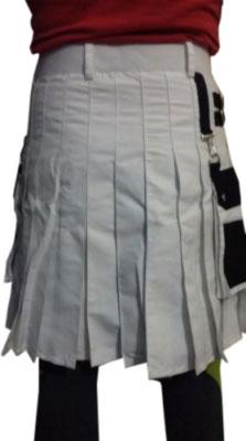 black & white kilt