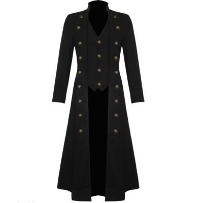 Goth Men military trench coat