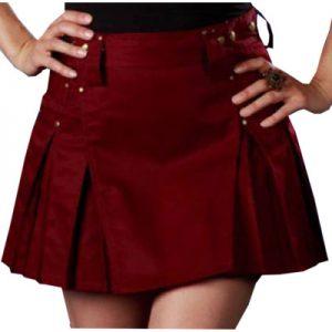 burgundy dress short