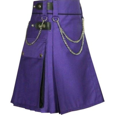 Women Purple Kilt