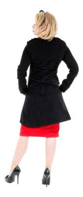 black women's dress coat