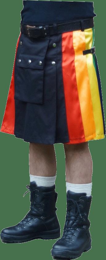 rainbow gay pride kilt