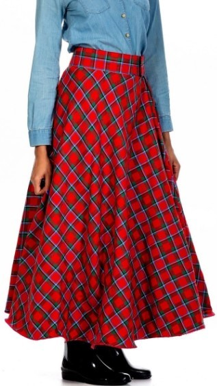 Midi Tartan Skirt
