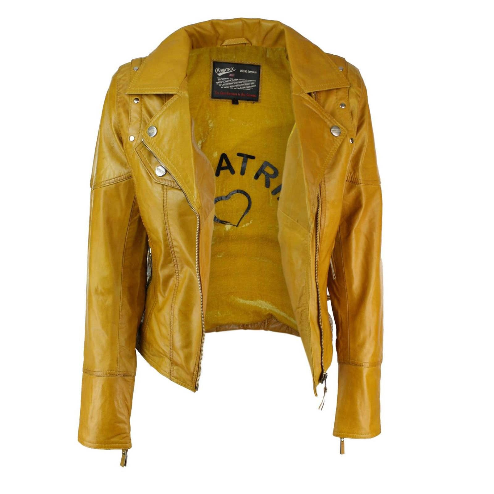 Womens Leather Motorcycle Jackets for sale