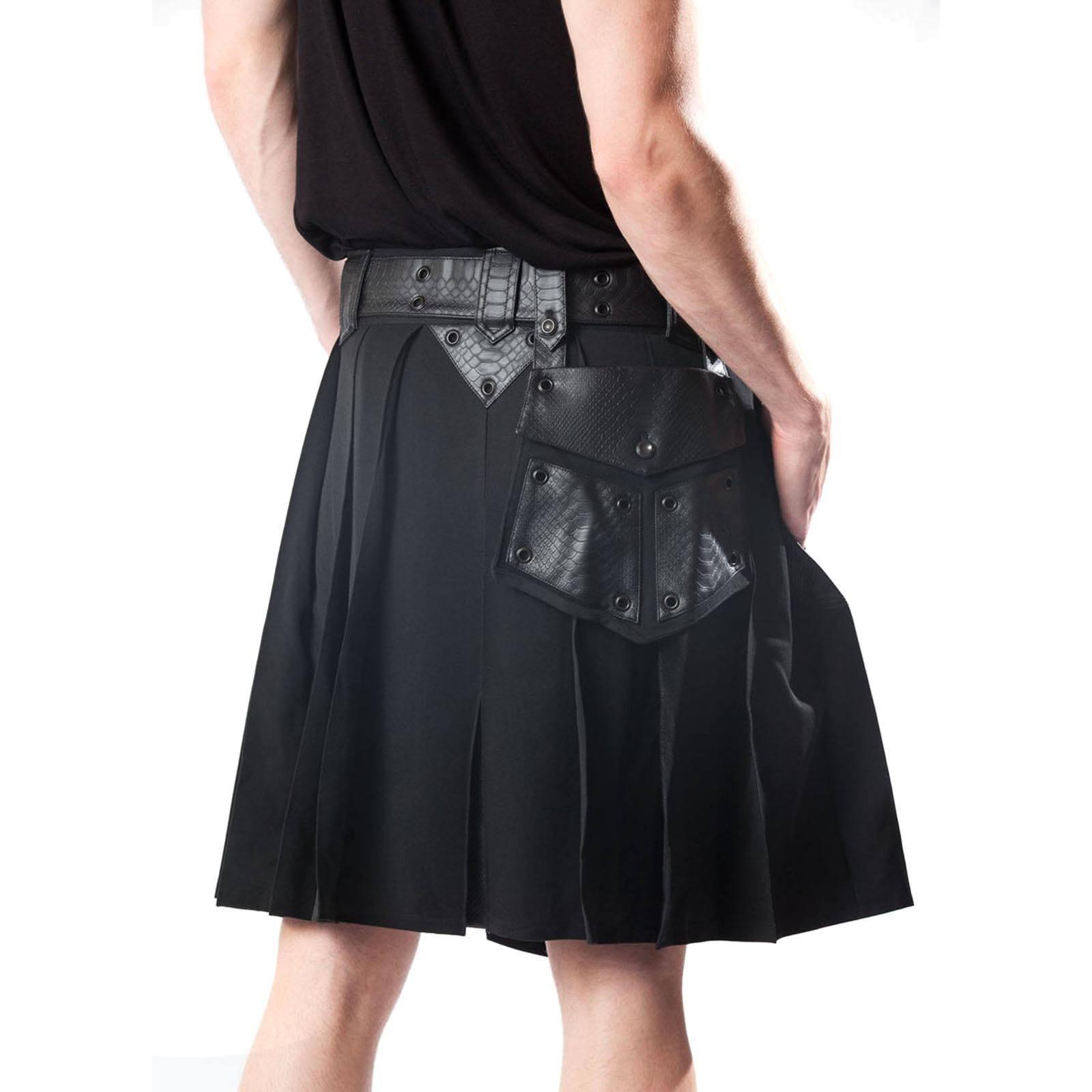 Leather Gothic Utility Kilt