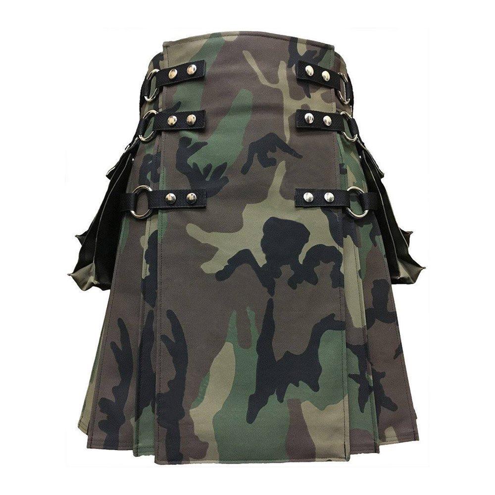 Woodland Camouflage Gothic Kilt