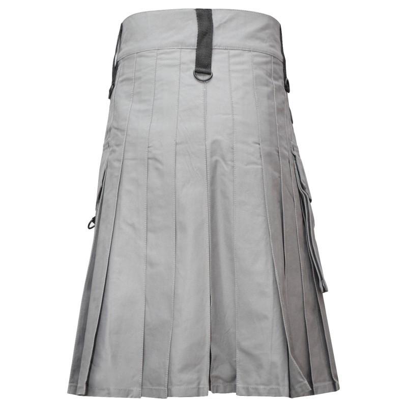 Men Grey Utility Fashion Kilt