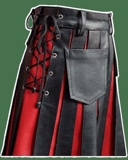 Fashion Leather Kilt