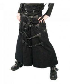 Cyber Punk Bondage Gothic Skirt