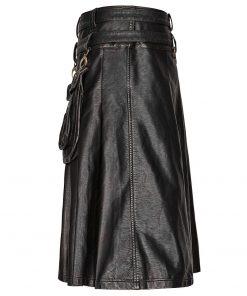 Gothic Steampunk Leather Kilt