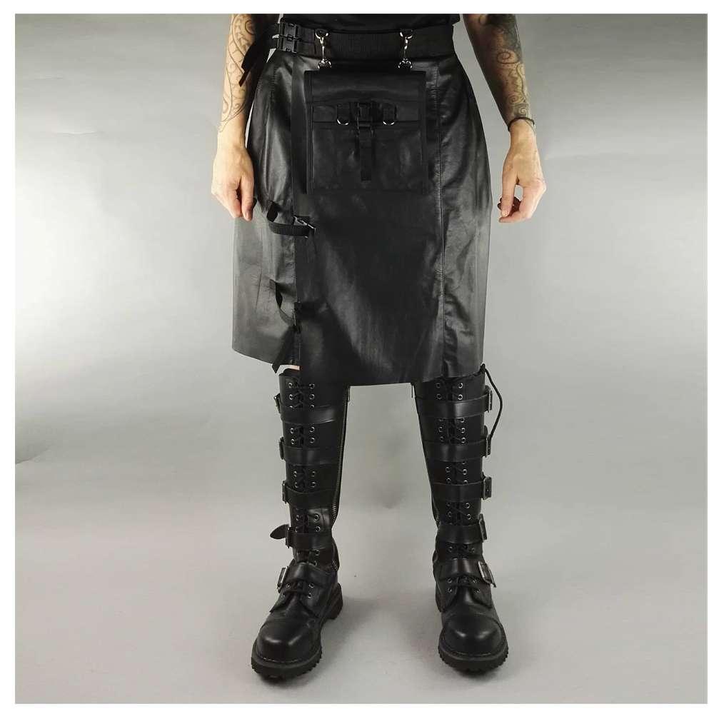 Leather Rock Star Scottish Kilt