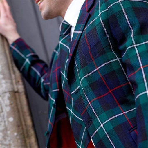 Men Long Tartan Coat